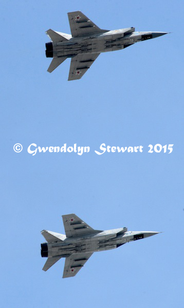 Russian Planes in the Sky for 'Victory! 70 Years' Parade in Moscow, Photographed by Gwendolyn Stewart ©2015; All Rights Reserved