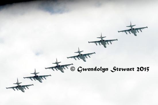 Russian Planes Rehearsing for the 70th Anniversary Celebrations, Photographed by Gwendolyn Stewart c. 2015; All Rights Reserved