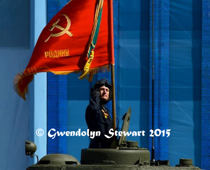 Russian Tank in the 'Victory! 70 Years' Parade, Photographed by Gwendolyn Stewart c. 2015; All Rights Reserved