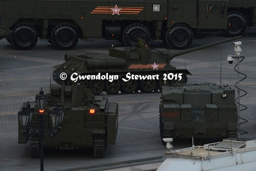 Russian Tanks In Night Rehearsal, Photographed by Gwendolyn Stewart, c. 2015; All Rights  Reserved