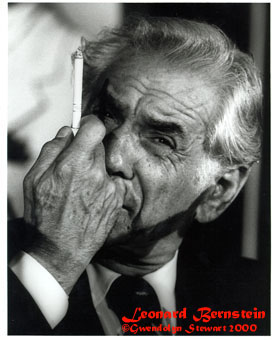Photograph of LEONARD BERNSTEIN by GWENDOLYN  STEWART ©2013; All Rights Reserved