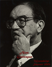 Photograph of Alan Greenspan by Gwendolyn Stewart c. 2009; All Rights  Reserved