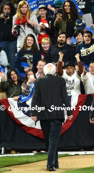 Bernie Sanders Says Farewell to Seattle Safeco Field Rally, Photographed by Gwendolyn Stewart, c. 2016; All Rights Reserved