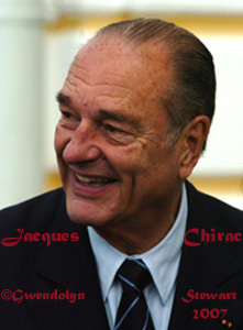 Photograph of French  President JACQUES CHIRAC by GWENDOLYN STEWART c. 2009; All Rights Reserved