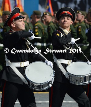 Two Drummers Drumming in 70th Anniversary Parade, Photographed by Gwendolyn Stewart, c. 2015; All Rights Reserved