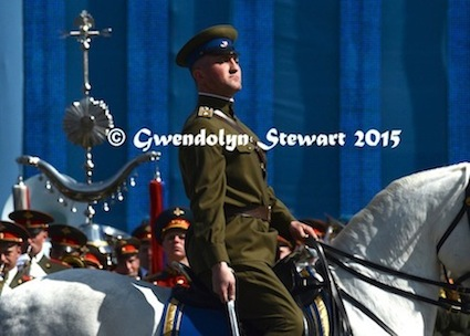 Russian Horseman Riding in the Celebration of the 70th Anniversary of the Soviet Victory over Nazi Germany, Photographed by Gwendolyn Stewart c. 2015; All Rights Reserved
