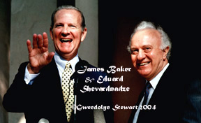 Photograph of JAMES A. BAKER III & EDUARD  SHEVARDNADZE by GWENDOLYN STEWART c. 2014.  All Rights Reserved