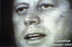 Film Image of President John F. Kennedy Photographed by Gwendolyn Stewart c. 2011; All Rights Reserved