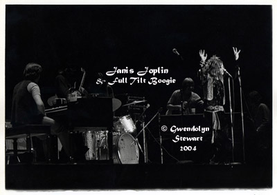 Photograph of JANIS JOPLIN & FULL TILT BOOGIE at Joplin's  Last Concert, by GWENDOLYN STEWART, c. 2014; All Rights  Reserved