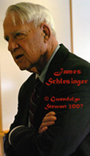 Photograph of JAMES SCHLESINGER by GWENDOLYN  STEWART c. 2009; All Rights Reserved