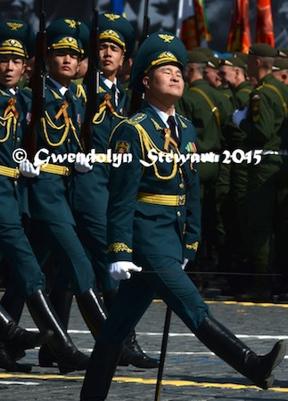 Kyrgyz March in the 70th Anniversary Victory Parade, Photographed by Gwendolyn Stewart, c. 2015; All Rights Reserved