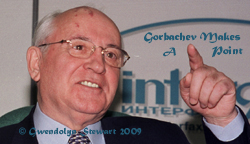 Photograph of Soviet President Mikhail Gorbachev by  Gwendolyn Stewart, c. 2009; All Rights Reserved