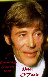 Photograph of PETER O'TOOLE by GWENDOLYN STEWART c. 2009;  All Rights Reserved