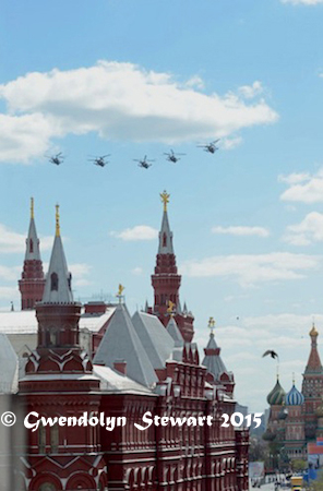 Red Square 70th Helicopter Rehearsal, Photographed by Gwendolyn Stewart, c. 2015; All Rights  Reserved