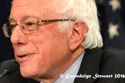 Senator Bernie Sanders Speaking at the National Press Club, Washington, D.C., Photographed by Gwendolyn Stewart, c. 2016; All Rights Reserved