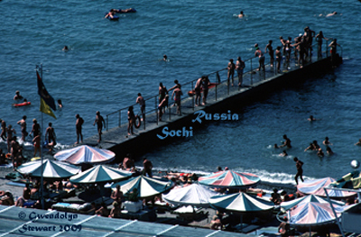 Photograph of THE  SOCHI SEASHORE, RUSSIA, by Gwendolyn Stewart, c. 2009; All Rights Reserved