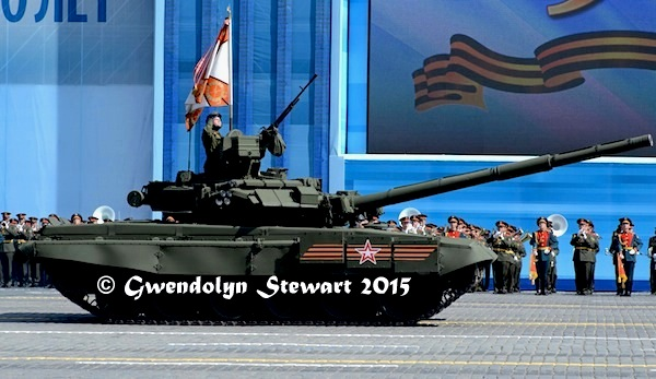 Russian Tank Celebrating the 70th Anniversary of the Victory over Nazi Germany, Photographed by Gwendolyn Stewart c. 2015; All Rights Reserved