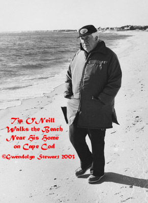 Photograph of Tip O'Neill Walking the Beach Near  His Home on Cape Cod, by Gwendolyn Stewart ©2014