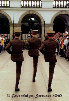 Polish  Soldiers Parading at the Tomb of the Unknown Soldier, Warsaw, Poland, Photographed by Gwendolyn  Stewart, c. 2011; All Rights Reserved