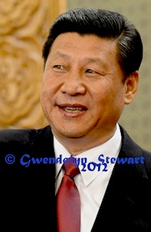 XI JINPING PHOTOGRAPHED BY GWENDOLYN STEWART c. 2013; All Rights Reserved